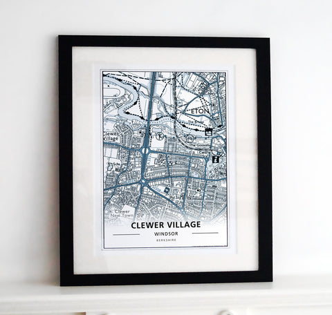 Framed Map - Custom Urban Art Print