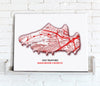 Football Stadium Map - Canvas Print - Love Maps On... - 19