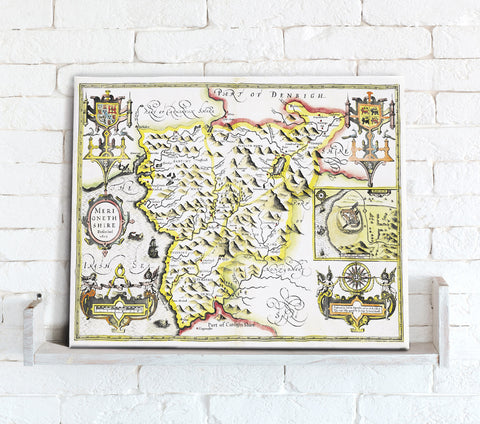 Map Canvas - Vintage County Map - Merionethshire