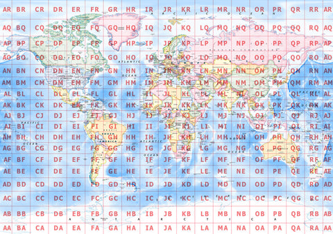 World map posters from love maps on map poster world map with maidenhead grid gumiabroncs Image collections