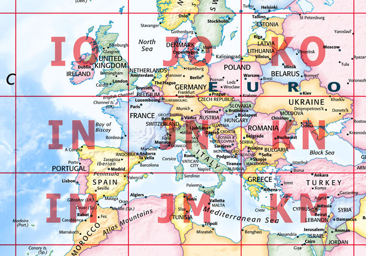 Map poster world map with maidenhead grid from love maps on map poster world map with maidenhead grid poster print love maps on gumiabroncs Gallery