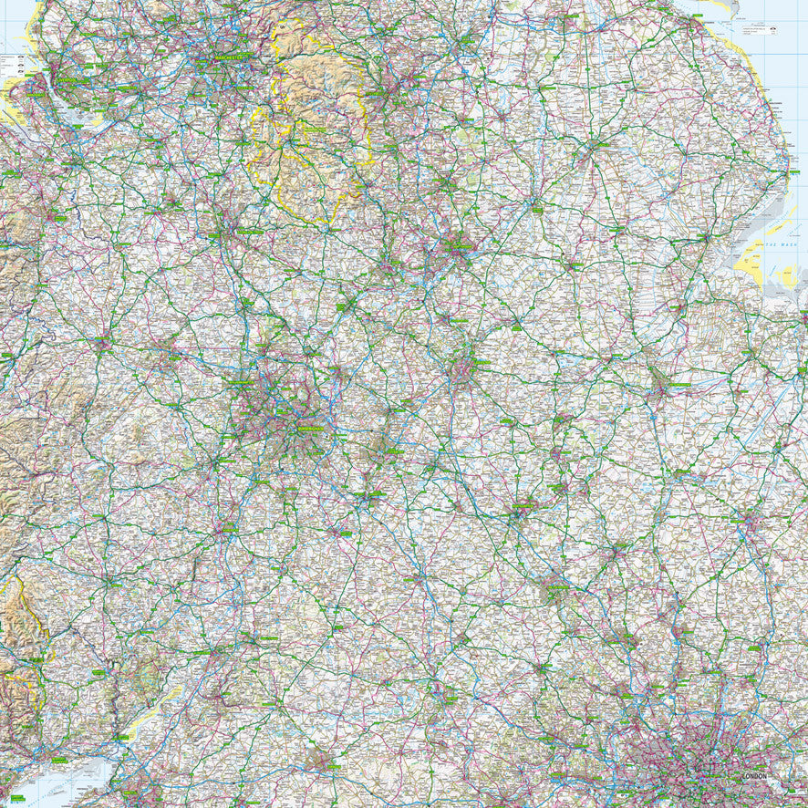 Map Wallpaper  - Midlands - Love Maps On...