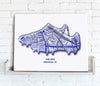 Football Stadium Map - Canvas Print - Love Maps On... - 21