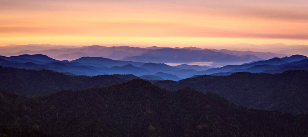 mountain sunset landscape canvas print - love maps on...
