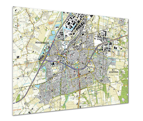 Map Poster - Netherlands 1:25,000 - postcode centred