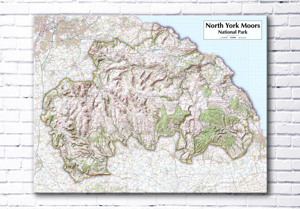 North York Moors National Park - Map Poster
