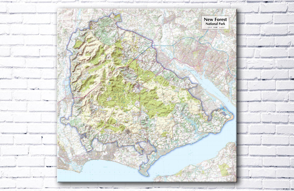 New Forest National Park Map Canvas Print - love maps on...