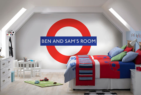 Wallpaper - Personalised Tube Roundel