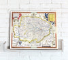 Map Canvas - Vintage County Map - Norfolk - Love Maps On... - 2