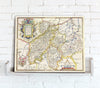 Map Canvas - Vintage County Map - Northamptonshire - Love Maps On...