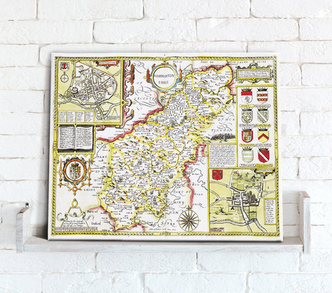 Map Canvas - Vintage County Map - Northamptonshire