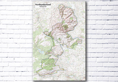 Northumberland National Park - Map Poster