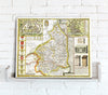 Map Canvas - Vintage County Map - Northumberland - Love Maps On...