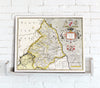 Map Canvas - Vintage County Map - Northumberland - Love Maps On... - 2
