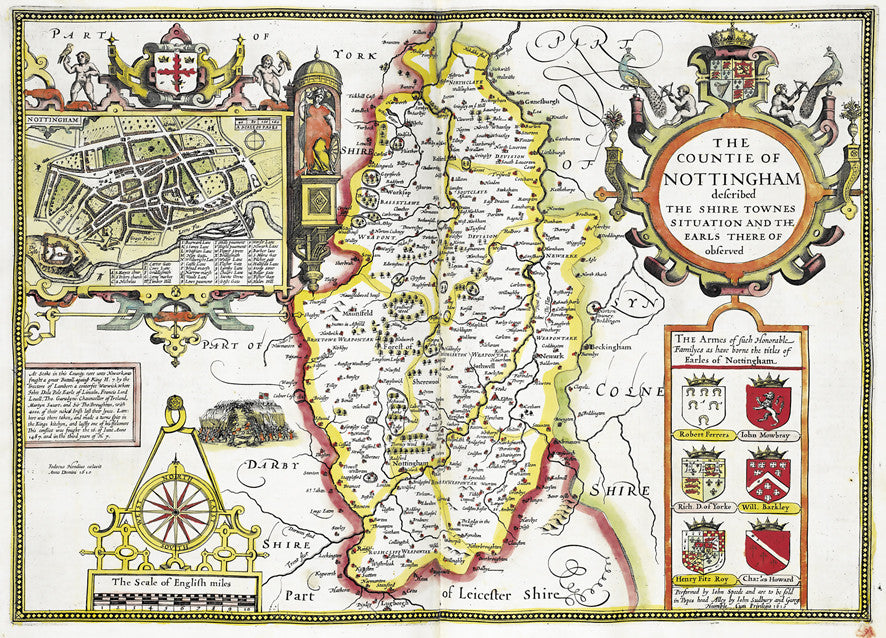 Map Wallpaper Vintage County Map Nottinghamshire from Love Maps