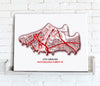 Football Stadium Map - Canvas Print - Love Maps On... - 24
