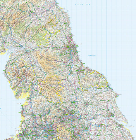 Map Wallpaper  - Northern England