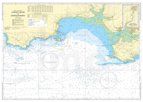 Nautical Chart - Admiralty Chart 1076 - Linney Head to Oxwich Point.