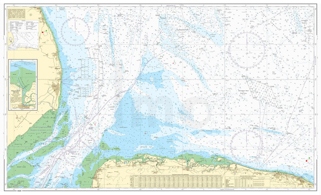 Nautical Chart - Admiralty Chart 108 - Approaches to The Wash