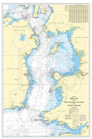 Nautical Chart - Admiralty Chart 1121 - Irish Sea with Saint George's Channel and North Channel
