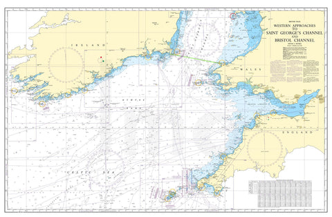 Nautical Chart - Admiralty Chart 1123 - Western Approaches to St George's Channel & Bristol Channel