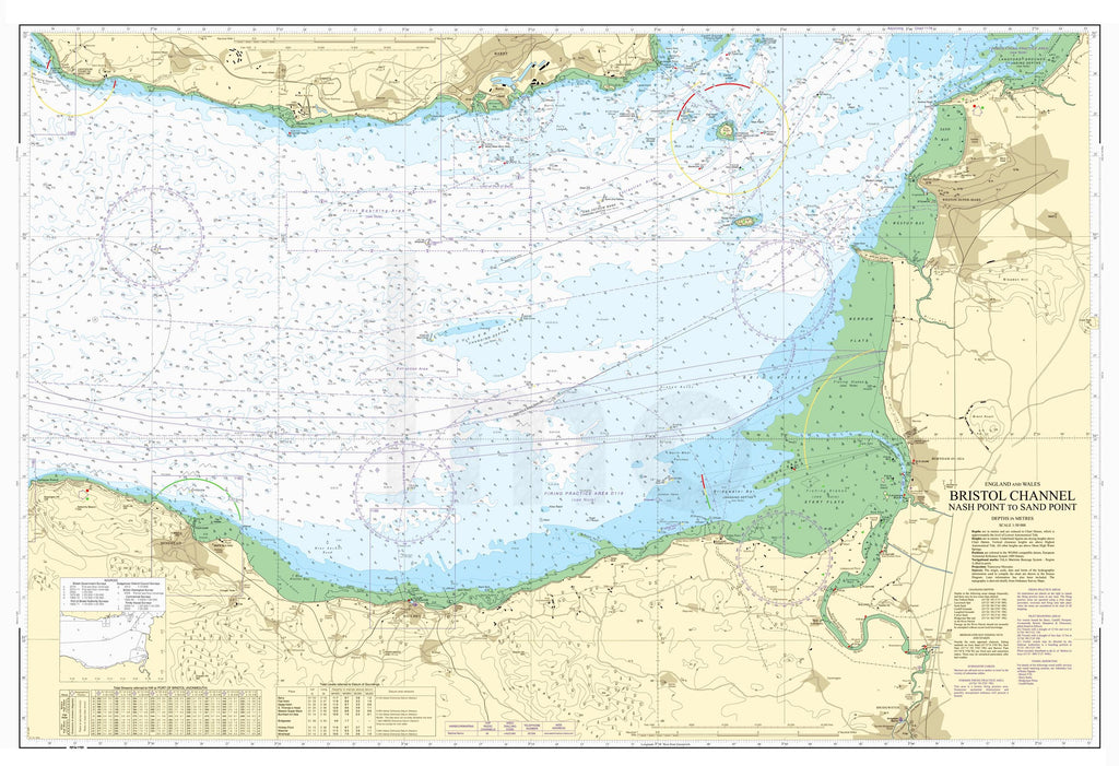 Nautical Chart - Admiralty Chart 1152 - Bristol Channel - Nash Point to Sand Point