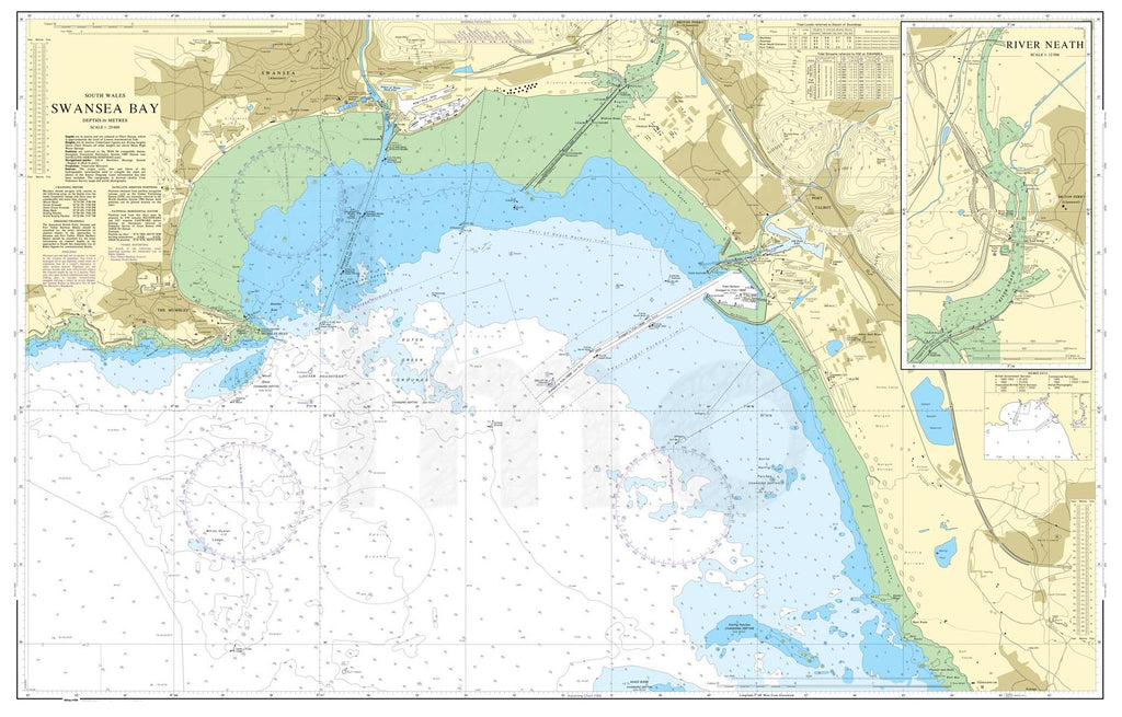 Nautical Chart - Admiralty Chart 1161 - Swansea Bay