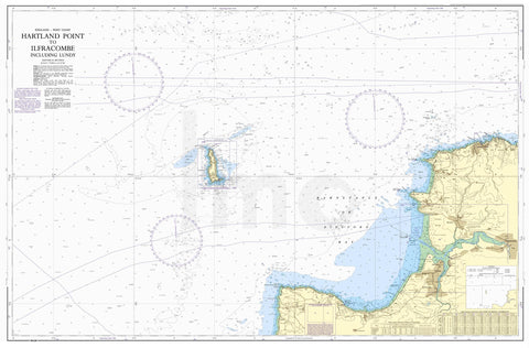 Nautical Chart - Admiralty Chart 1164 - Hartland Point to Ilfracombe including Lundy