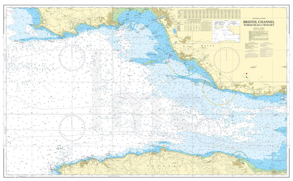 Nautical Chart - Admiralty Chart 1165 - Bristol Channel Worms Head to Watchet.