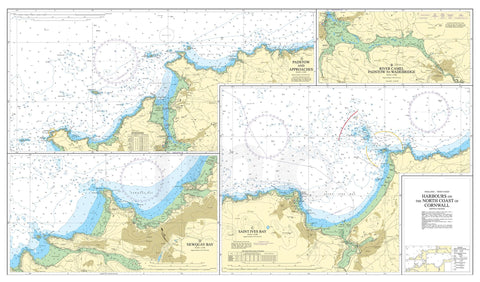 Nautical Chart - Admiralty Chart 1168 - Harbours on the North Coast of Cornwall