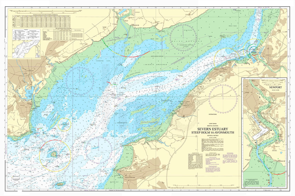 Nautical Chart - Admiralty Chart 1176 - Severn Estuary - Steep Holm to Avonmouth
