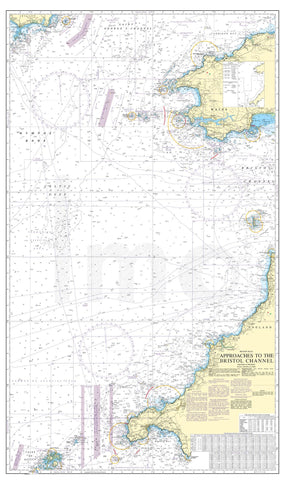 Nautical Chart - Admiralty Chart 1178 - Approaches to the Bristol Channel