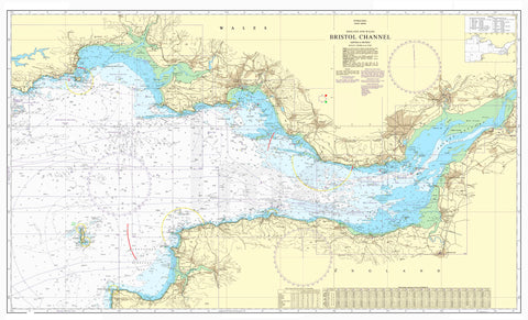 Nautical Chart - Admiralty Chart 1179 - Bristol Channel.