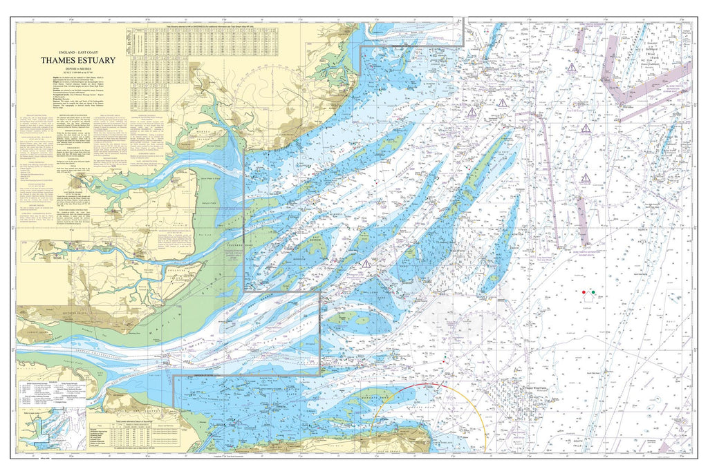 Nautical Chart - Admiralty Chart 1183 - Thames Estuary