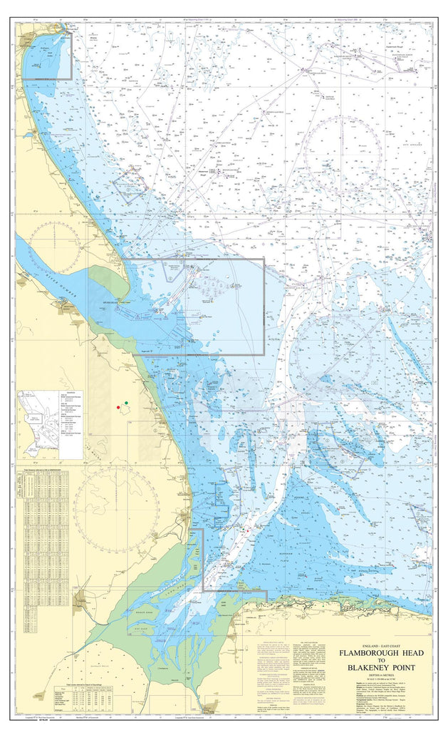 Nautical Chart - Admiralty Chart 1190 - Flamborough Head to Blakeney Point.