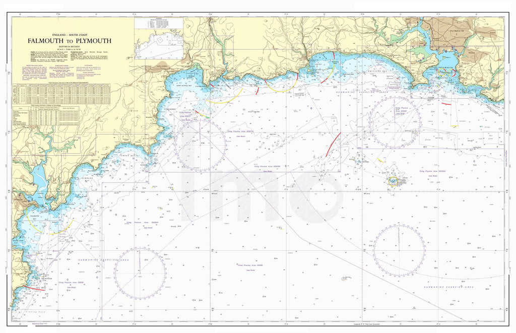 Nautical Chart - Admiralty Chart 1267 - Falmouth to Plymouth