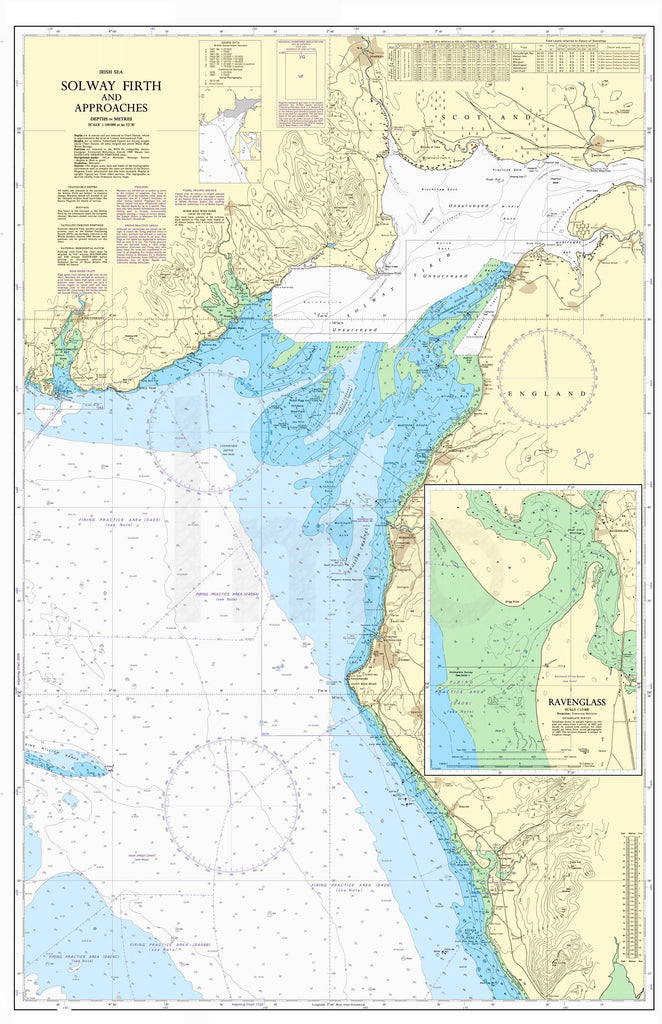 Nautical Chart - Admiralty Chart 1346 - Solway Firth and Approaches.