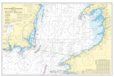 Nautical Chart - Admiralty Chart 1410 - Saint George's Channel