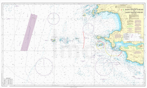 Nautical Chart - Admiralty Chart 1478 - St Govan's Head to St David's Head.
