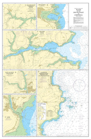 Nautical Chart - Admiralty Chart 147 - Plans on the South Coast of Cornwall