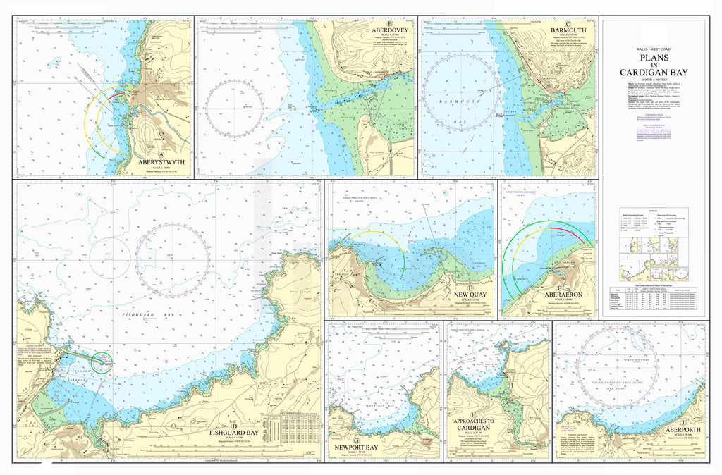 Nautical Chart - Admiralty Chart 1484 - Plans in Cardigan Bay