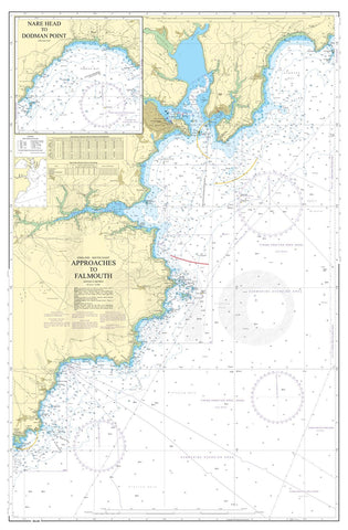 Nautical Chart - Admiralty Chart 154 - Approaches to Falmouth.