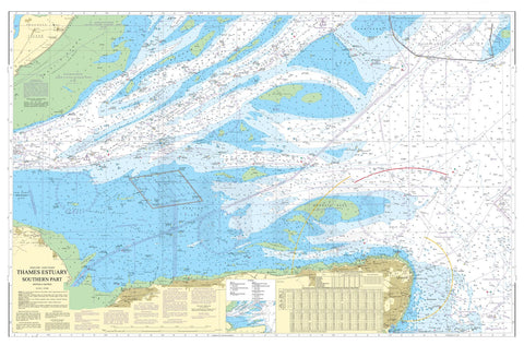 Nautical Chart - Admiralty Chart 1607 - Thames Estuary, Southern Part.