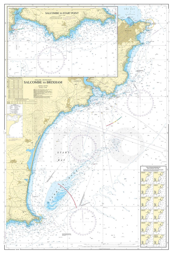 Nautical Chart - Admiralty Chart 1634 - Salcombe to Brixham