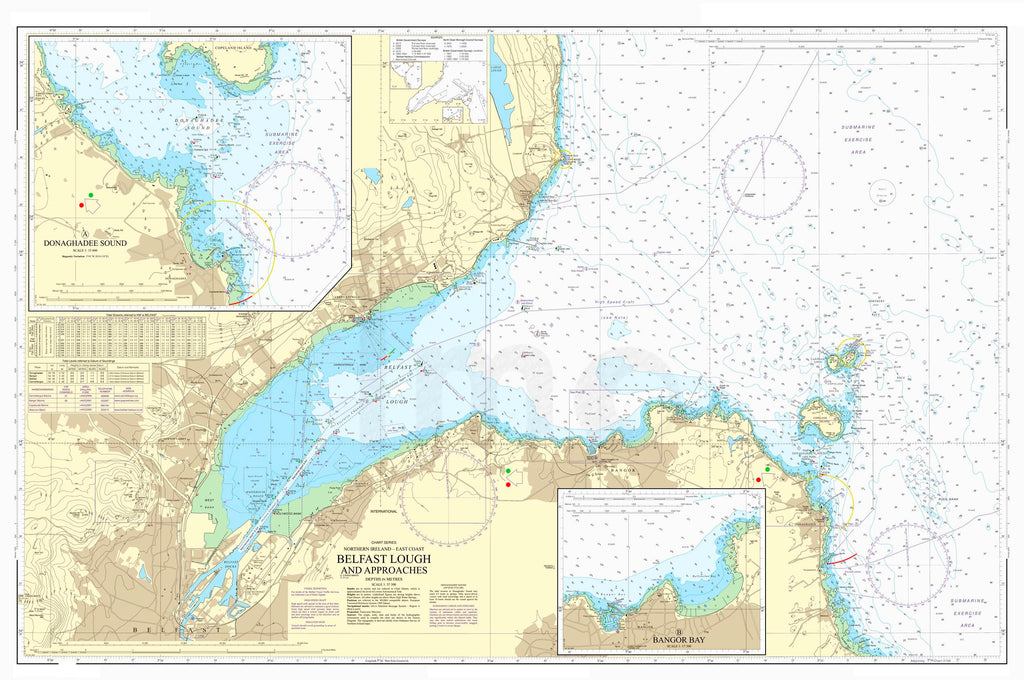 Nautical Chart - Admiralty Chart 1753 - Belfast Lough and Approaches