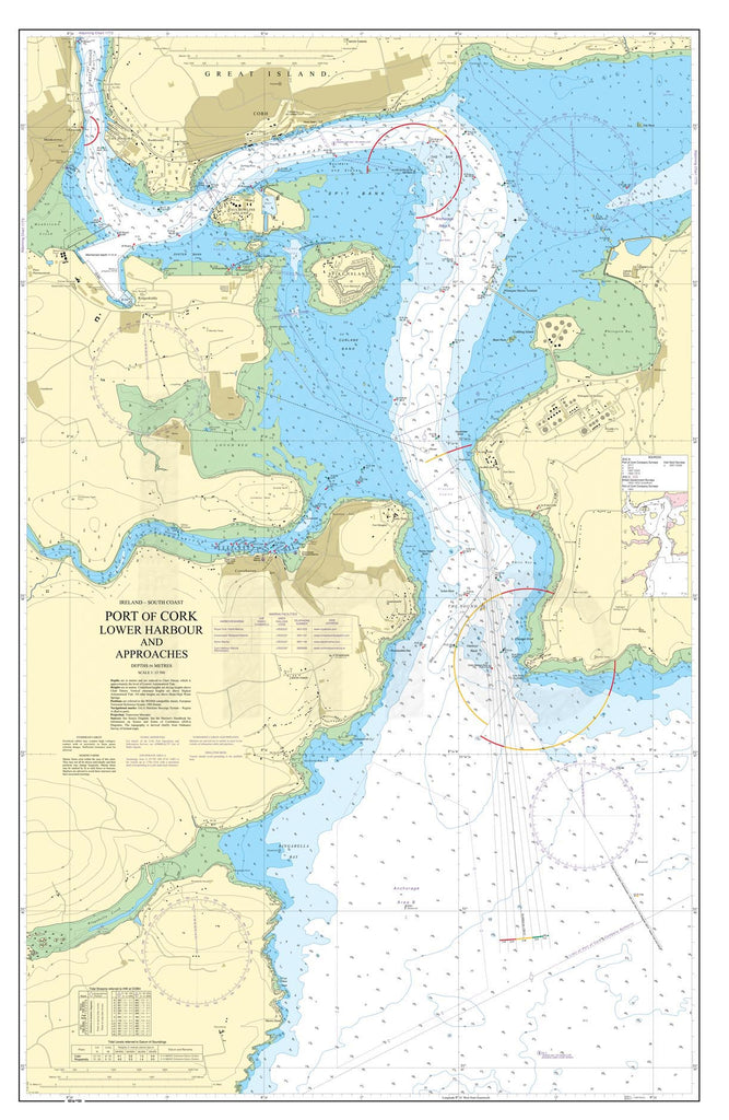 Nautical Chart - Admiralty Chart 1777 - Port of Cork, Lower Harbour and Approaches