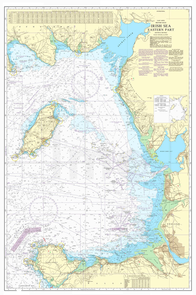 Nautical Chart - Admiralty Chart 1826 - Irish Sea Eastern Part