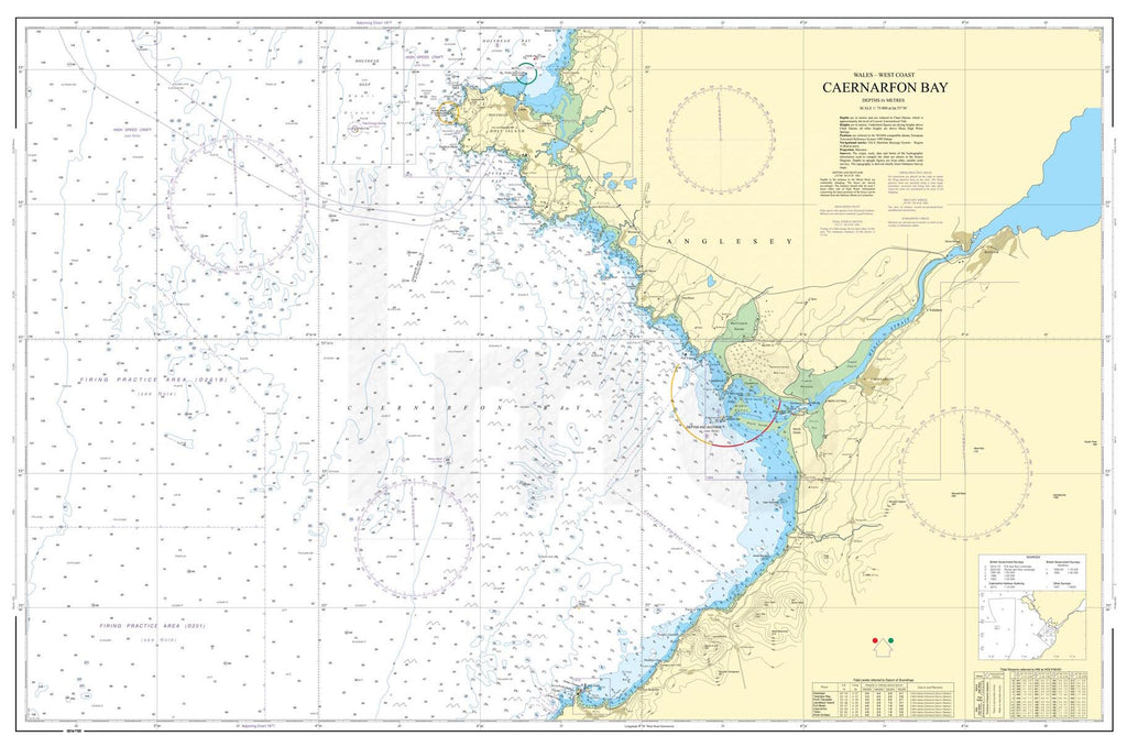 Nautical Chart - Admiralty Chart 1970 - Caernarfon Bay