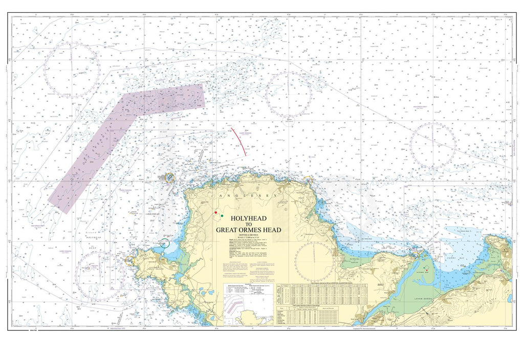 Nautical Chart - Admiralty Chart 1977 - Holyhead to Great Ormes Head