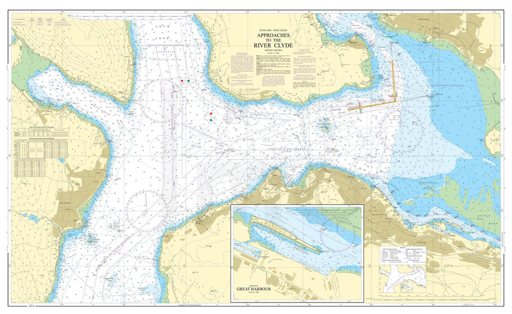 Nautical Chart - Admiralty Chart 1994 - Approaches to the River Clyde